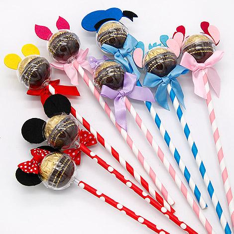 婚禮創意喜糖 經典可愛卡通造型糖果棒 活動小禮物