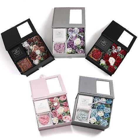 情人節禮物 祕密花園手工香皂擴香石花盒 特別的母親節禮物