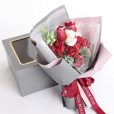 情人節禮物 玫瑰花香皂花束 擄獲芳心