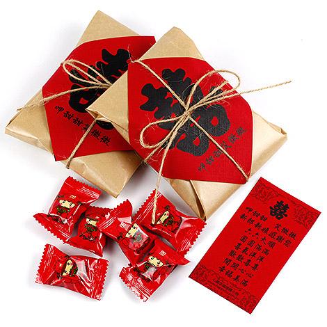 結婚送客禮 復古創意傳統喜糖包裝 創意喜糖
