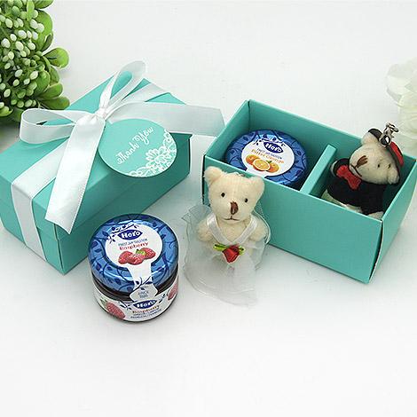 結婚禮物送什麼 婚禮熊果醬DIY組合 送特別禮物熊歡喜