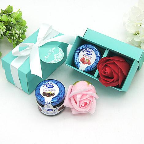 婚禮小物 喜糖盒 婚禮小物 DIY 玫瑰花,果醬愛情組合
