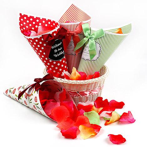 婚禮進場 婚禮小物 DIY 玫瑰花瓣 花童好拿