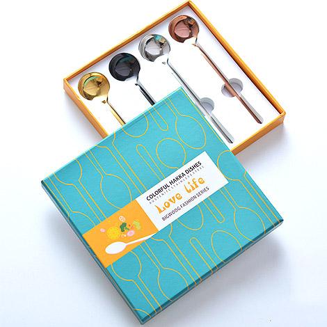 送禮物 304不鏽鋼 甜品攪拌圓湯匙