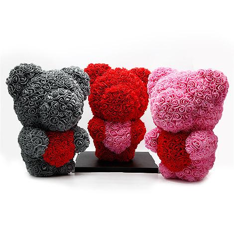 情人 生日禮物送什麼好 熊熊愛心玫瑰花