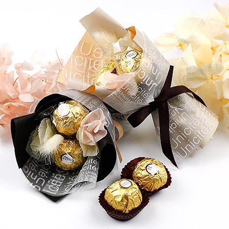 新娘 捧花 創意金莎 巧克力喜糖 獨家迷你金莎花束