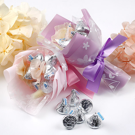 獨家送客禮 迷你KISS濃情 巧克力 手工花束