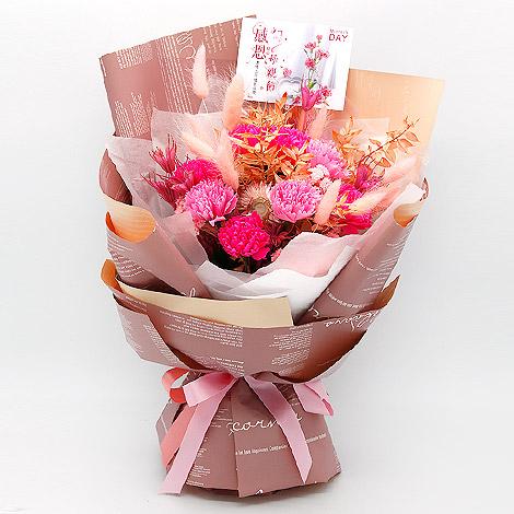 送媽媽禮物 母親節乾燥花束 香皂花束