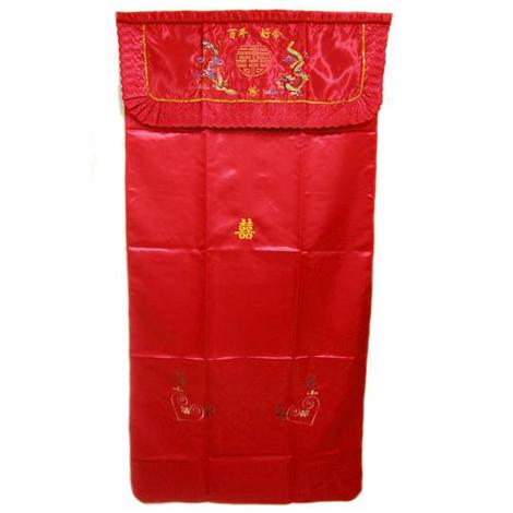 傳統婚禮用品 (MIT) 龍鳳百年好合門裡 門簾