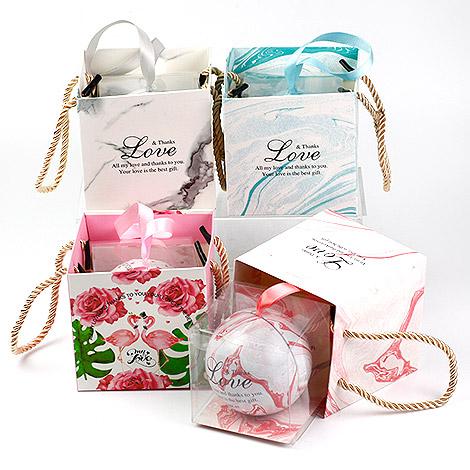 創意禮物 DIY材料馬口鐵圓球加提袋組合 精緻禮物包裝