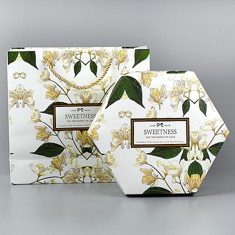 禮物盒推薦 客製化禮品  花草六角禮物盒 隨意搭配 禮物包裝