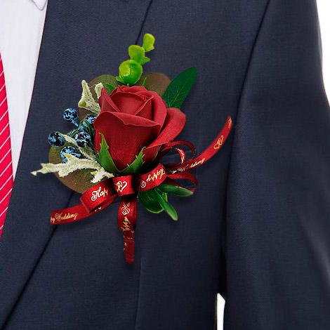 婚禮用品 玫瑰香皂花胸花 台北婚禮小物