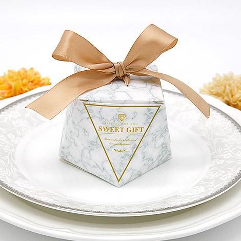 婚禮小物 DIY大理石系列喜糖盒 送客小禮