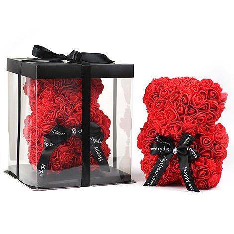 萌心情人禮物 可愛玫瑰花小熊