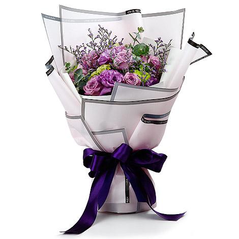 浪漫禮物 情人節紫玫瑰花束 全省送花