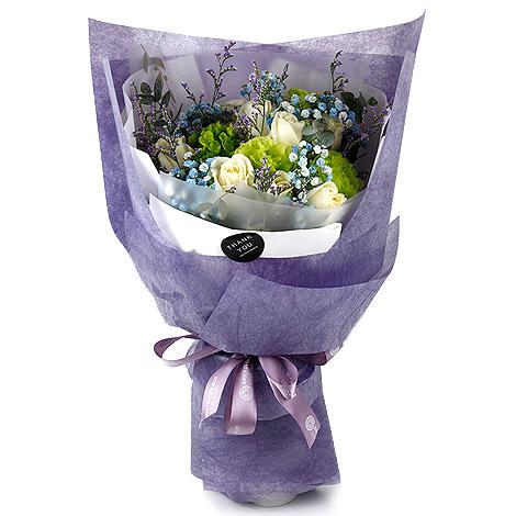 白色情人節 愛情滿天星情人花束 花店代客送花