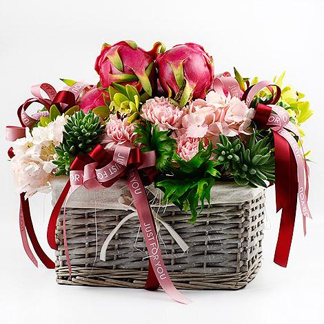 中秋節禮物送什麼 健康水果花禮藍 網路訂禮方便