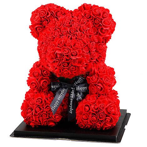 玫瑰花小熊 情人生日禮物限量搶購中