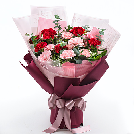 母親節禮物 康乃馨花束 送母親節卡片