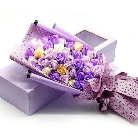 特別禮物 玫瑰香皂花束禮盒 36朵 (3色可選)