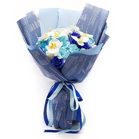 父親節禮物 藍天靠山香皂花束