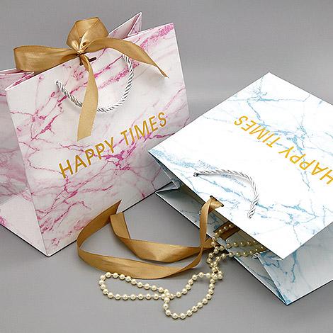 清新大理石紋手提袋 禮物袋推薦