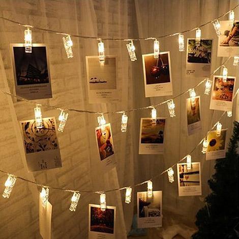 會場佈置好物 LED夾子燈串 製造浪漫