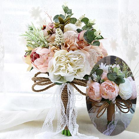 新娘捧花 歐式森林系仿真手捧花