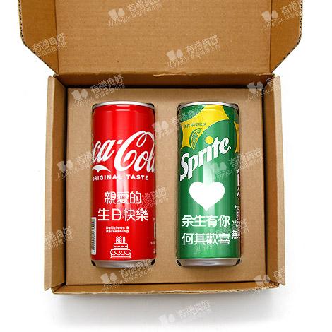 客製化告白可樂 235ml二瓶汽水包裝 單瓶可做