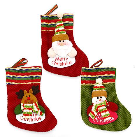 可愛 毛線聖誕襪