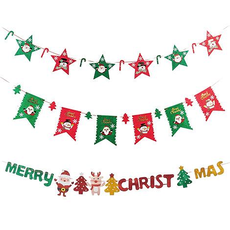 聖誕節佈置 聖誕拉旗
