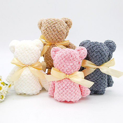 特別禮物 珊瑚絨小熊方巾
