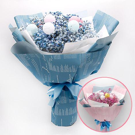 糖果燈球滿天星花束 情人節禮物