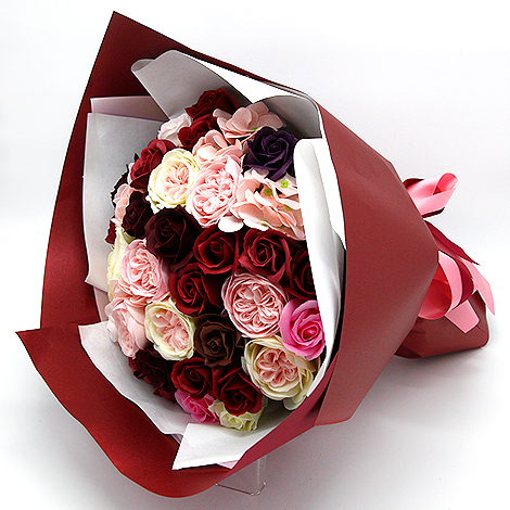 真心愛你香皂花束 情人節禮物就決定是你!