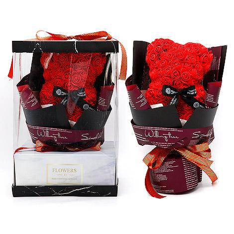 情人節代客送花 可愛小熊花束