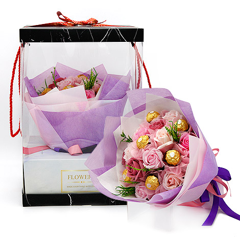 金莎巧克力花束 愛情真意香皂花束