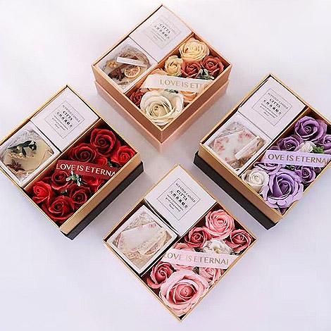 創意禮物 玫瑰花香氛片香皂花禮盒