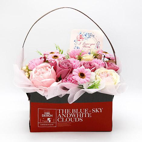 母親節送花 討喜康乃馨香皂盆花