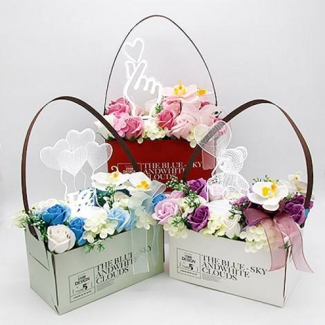 特別情人節禮物 壓克力投影香皂花禮盒