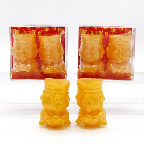 好運雙雙來財神手工香皂組 招財進寶年節小禮物