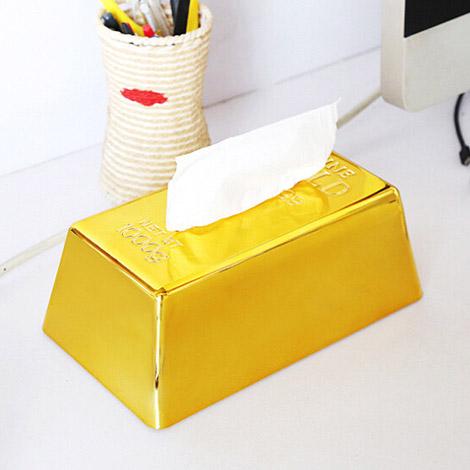 年節創意禮物 日本仿真金磚面紙盒