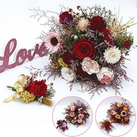 新娘捧花 乾燥花新娘捧花 乾燥花胸花