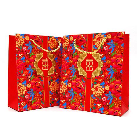 錦繡花開禮物袋(大) 喜氣禮物袋