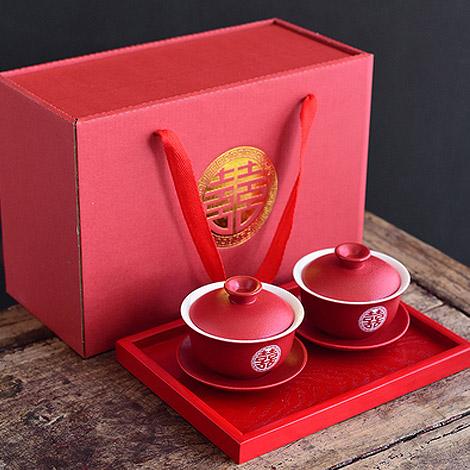 敬茶杯禮盒組(附托盤) 送閨蜜的結婚禮物