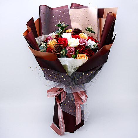 玫瑰香皂花束-紅色