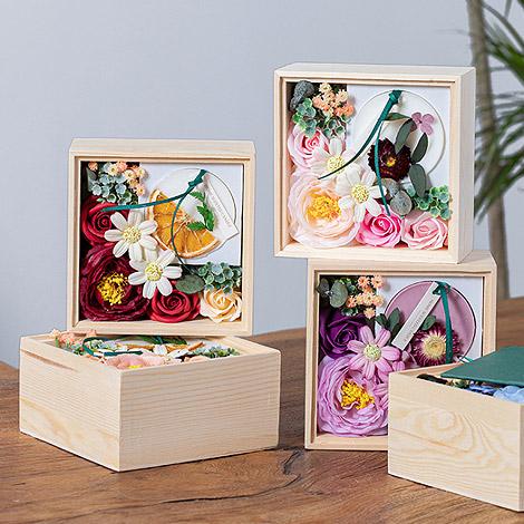 蠟片花藝木盒 活動禮贈品