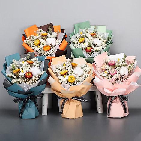 七彩菊 乾燥花束禮盒