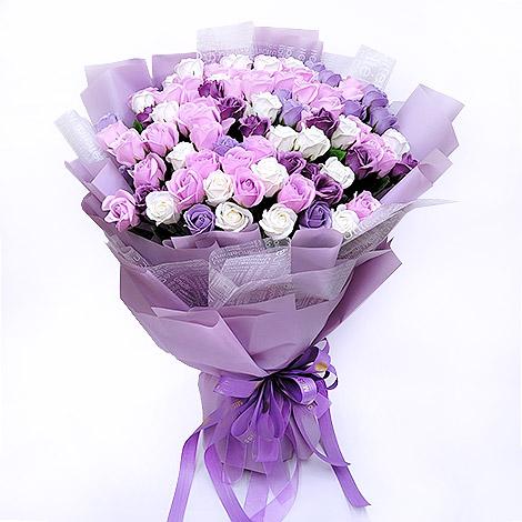 99朵玫瑰花香皂花束 情人節推薦