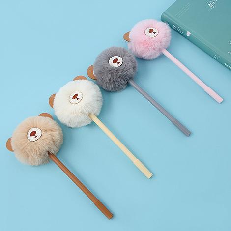 萌萌毛球小熊原子筆 桌上賓客禮贈品