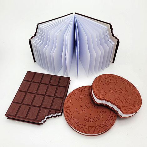 巧克力餅乾造型記事本 文具禮贈品